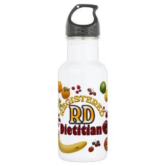 FRUITY RD REGISTERED DIETITIAN STAINLESS STEEL WATER BOTTLE