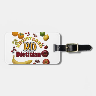 FRUITY RD REGISTERED DIETITIAN TAGS FOR LUGGAGE