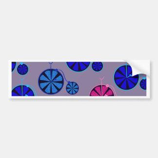 Fruity ride pattern bumper sticker