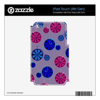 Fruity ride pattern skins for iPod touch 4G
