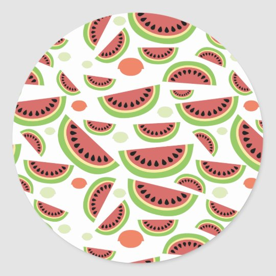 Fruity Splash Classic Round Sticker