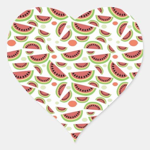 Fruity Splash Heart Sticker