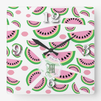 Fruity Splash Summer time Square Wall Clock