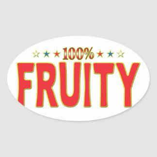 Fruity Star Tag Oval Stickers