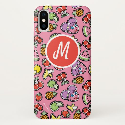 Fruity Sticker Elmo & Abby Cadabby Pattern iPhone X Case