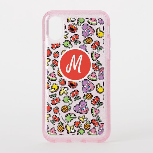 Fruity Sticker Elmo & Abby Cadabby Pattern Speck iPhone X Case