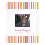 Fruity Stripes Birthday Party Invitation