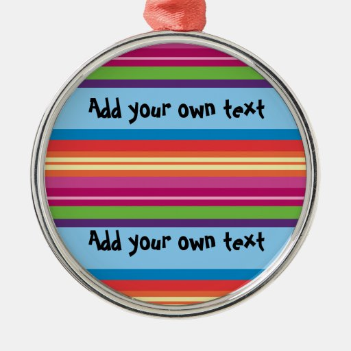 Fruity Stripes Customizable Christmas Tree Ornament