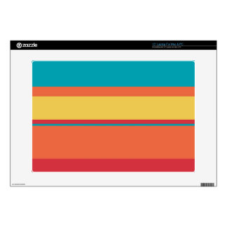 "Fruity Tropical Stripes 15"" Laptop Decal"