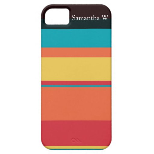 Fruity Tropical Tonal Stripes iPhone 5 Cases