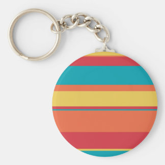 Fruity Tropical Tonal Stripes Keychain