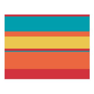 Fruity Tropical Tonal Stripes Postcard
