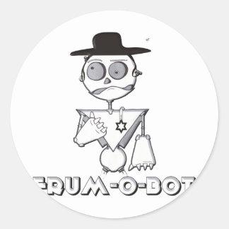 Frum-O-Bot Classic Round Sticker