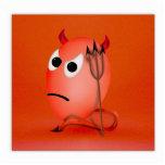 Frunciendo el ceño poco huevo de Devil'ed Escultura Fotografica