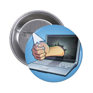 Frustración del ordenador pin redondo 5 cm
