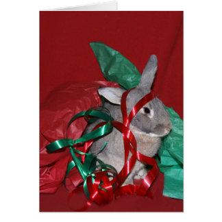 Frustración del papel de regalo del navidad tarjeta de felicitación
