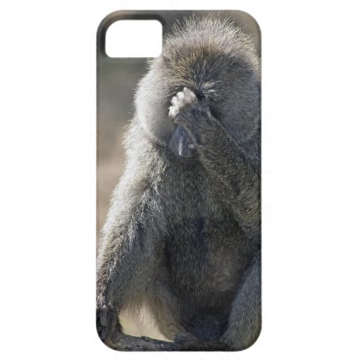 Frustrated Baboon iPhone Case