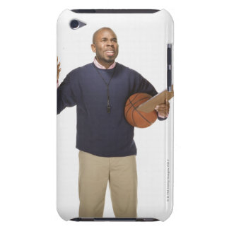 Frustrated basketball coach, on white background barely there iPod covers