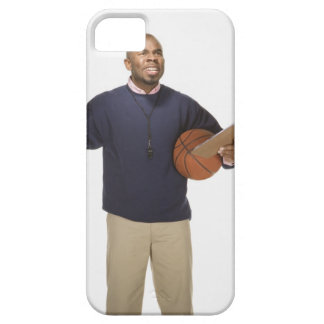 Frustrated basketball coach, on white background iPhone SE/5/5s case
