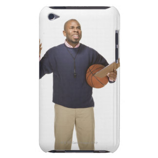 Frustrated basketball coach, on white background iPod touch Case-Mate case