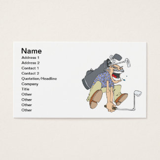 Frustrated Golfer Business Card