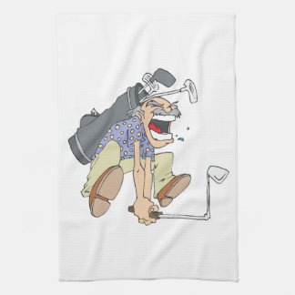 Frustrated Golfer Towels