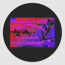 frustrated logo sticker