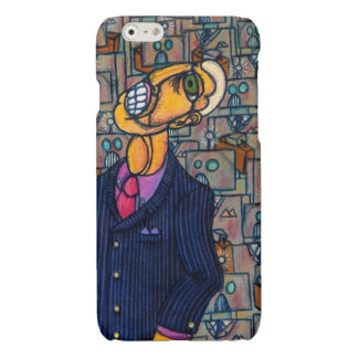 Frustrated Man in the Land of Robots Glossy iPhone 6 Case