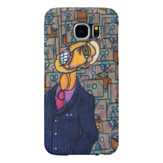 Frustrated Man in the Land of Robots Samsung Galaxy S6 Case