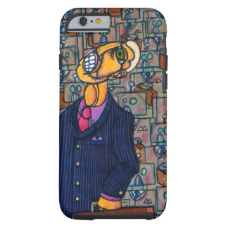 Frustrated Man in the Land of Robots Tough iPhone 6 Case