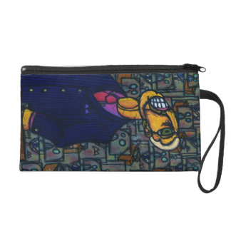Frustrated Man in the Land of Robots Wristlet Purse