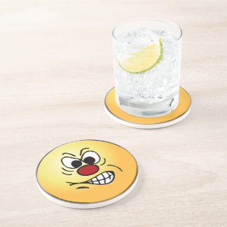 Frustrated Smiley Face Grumpey Coaster