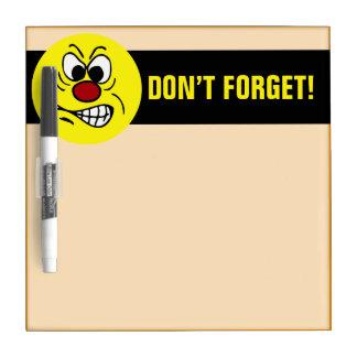 Frustrated Smiley Face Grumpey Dry Erase Board