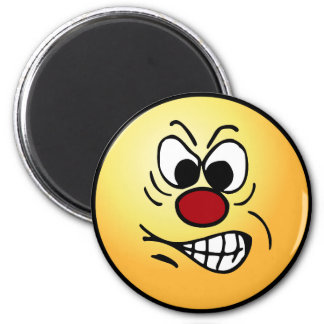Frustrated Smiley Face Grumpey Magnet