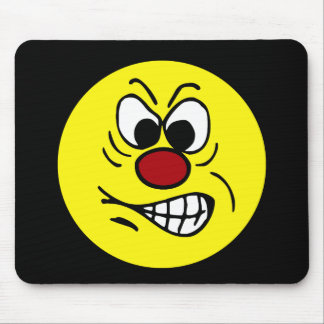 Frustrated Smiley Face Grumpey Mouse Pad