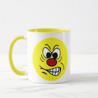 Frustrated Smiley Face Grumpey Mug