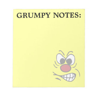 Frustrated Smiley Face Grumpey Notepad