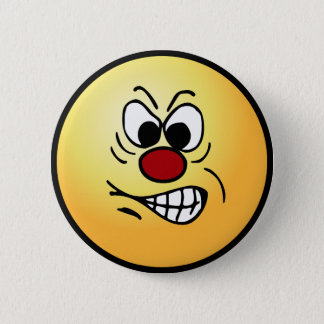 Frustrated Smiley Face Grumpey Pinback Button