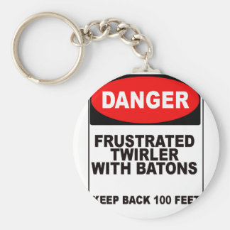 Frustrated Twirler Keychain