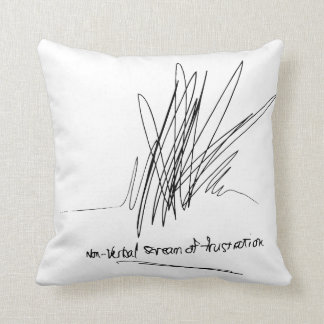Frustration Throw Pillow! Throw Pillow