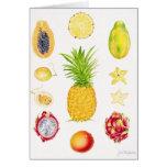 Fruta 1 tarjeta de felicitación
