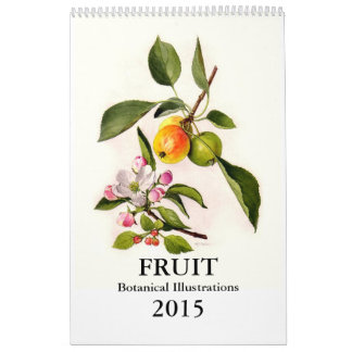 Fruta 2015 calendario de pared