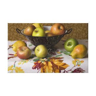 Fruta 4654 en todavía del colador vida lona estirada galerías