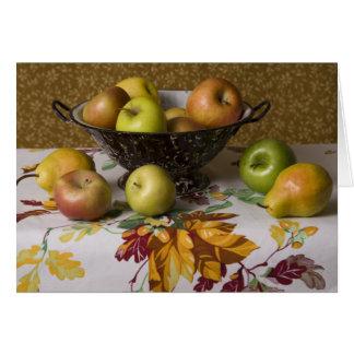 Fruta 4654 en todavía del colador vida tarjeta de felicitación