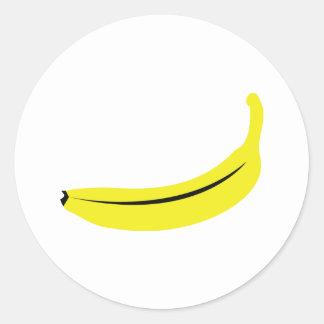 fruta amarilla del plátano pegatina