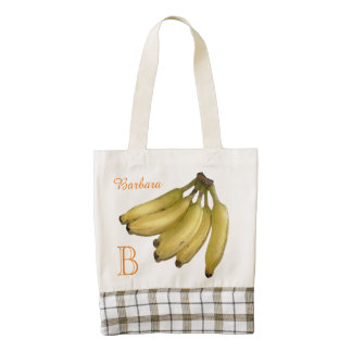 fruta amarilla tropical del plátano bolsa tote zazzle HEART