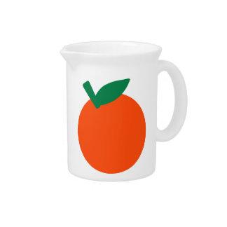 Fruta anaranjada jarra para bebida
