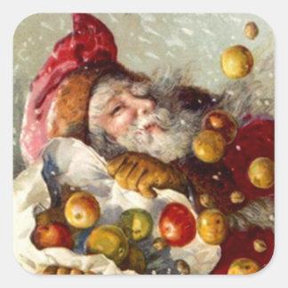 Fruta antigua de los regalos de Apple del navidad Pegatina Cuadradas Personalizada