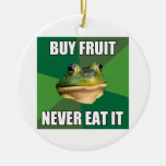 Fruta asquerosa de la compra de la rana del solter ornamento de navidad