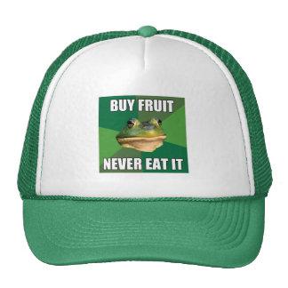 Fruta asquerosa de la compra de la rana del solter gorros bordados